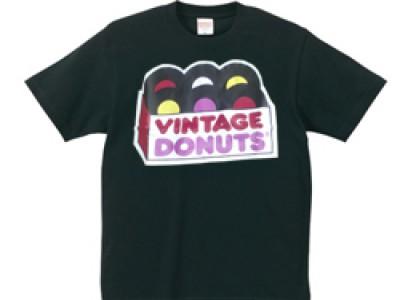 ヴィンテージドーナツ Tシャツ(黒)
