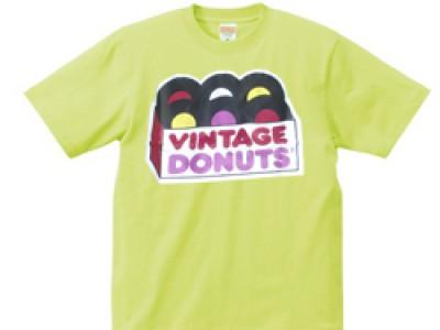 ヴィンテージドーナツ Tシャツ(ライム)