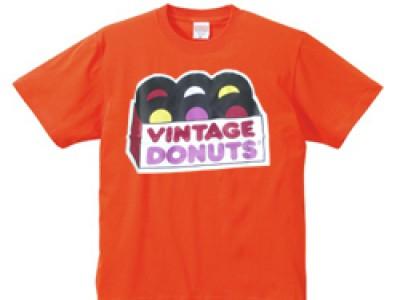 ヴィンテージドーナツ Tシャツ(オレンジ)