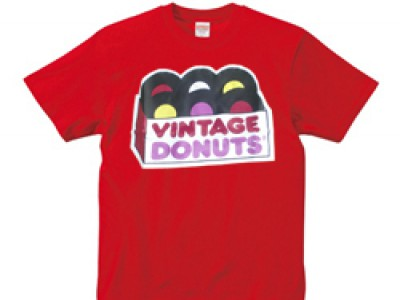 ヴィンテージドーナツ Tシャツ(赤)