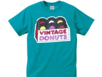 ヴィンテージドーナツ Tシャツ(ターコイズ)