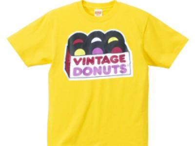 ヴィンテージドーナツ Tシャツ(黄色)