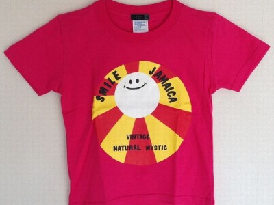 Smile Jamaica キッズTシャツ(トロピカルピンク)