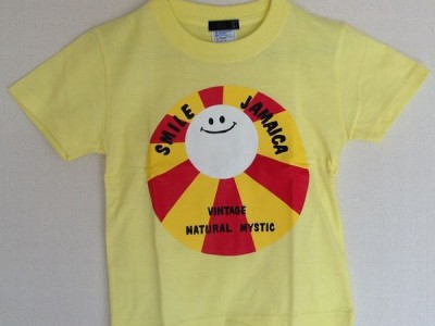 Smile Jamaica キッズTシャツ(ライトイエロー)