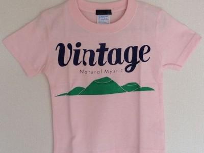 VINTAGE キッズTシャツ(ベビーピンク)