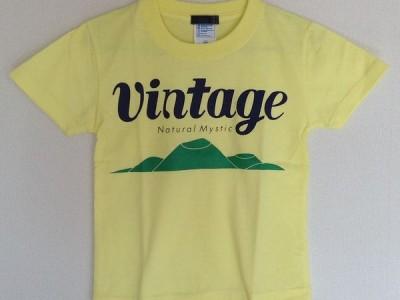 VINTAGE キッズTシャツ(ライトイエロー)