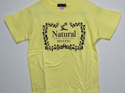 Natural VS キッズTシャツ(ライトイエロー)
