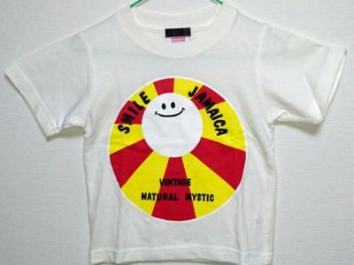 Smile Jamaica キッズTシャツ(白)