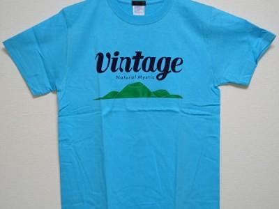 VINTAGE Tシャツ(アクアブルー)