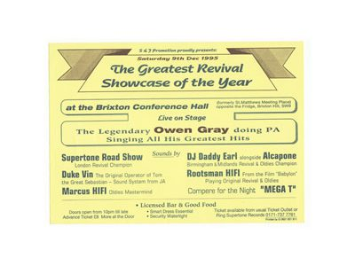 The Greatest Revival Showcase of the Year 1995 at BRIXTON Conference Hall