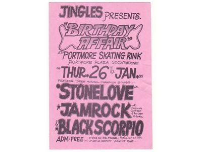 Birthday Affair STONELOVE JAMROCK BLACKSCORPO 1995 at Portmore Skating Rink
