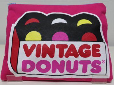 ハンドメイドクラッチバッグVintage Donuts(トロピカル)