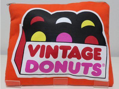 ハンドメイドクラッチバッグVintage Donuts(オレンジ)