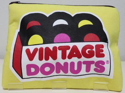 ハンドメイドクラッチバッグVintage Donuts(イエロー)