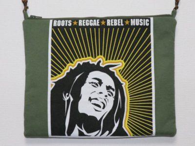 ハンドメイドサコッシュバッグBob Marley RootsReggaeRebelMusic